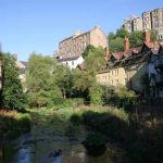 Dean village in Stockbridge in Edinburgh
